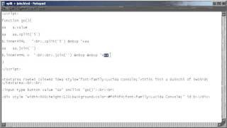 Html + Javascript; Split + Join