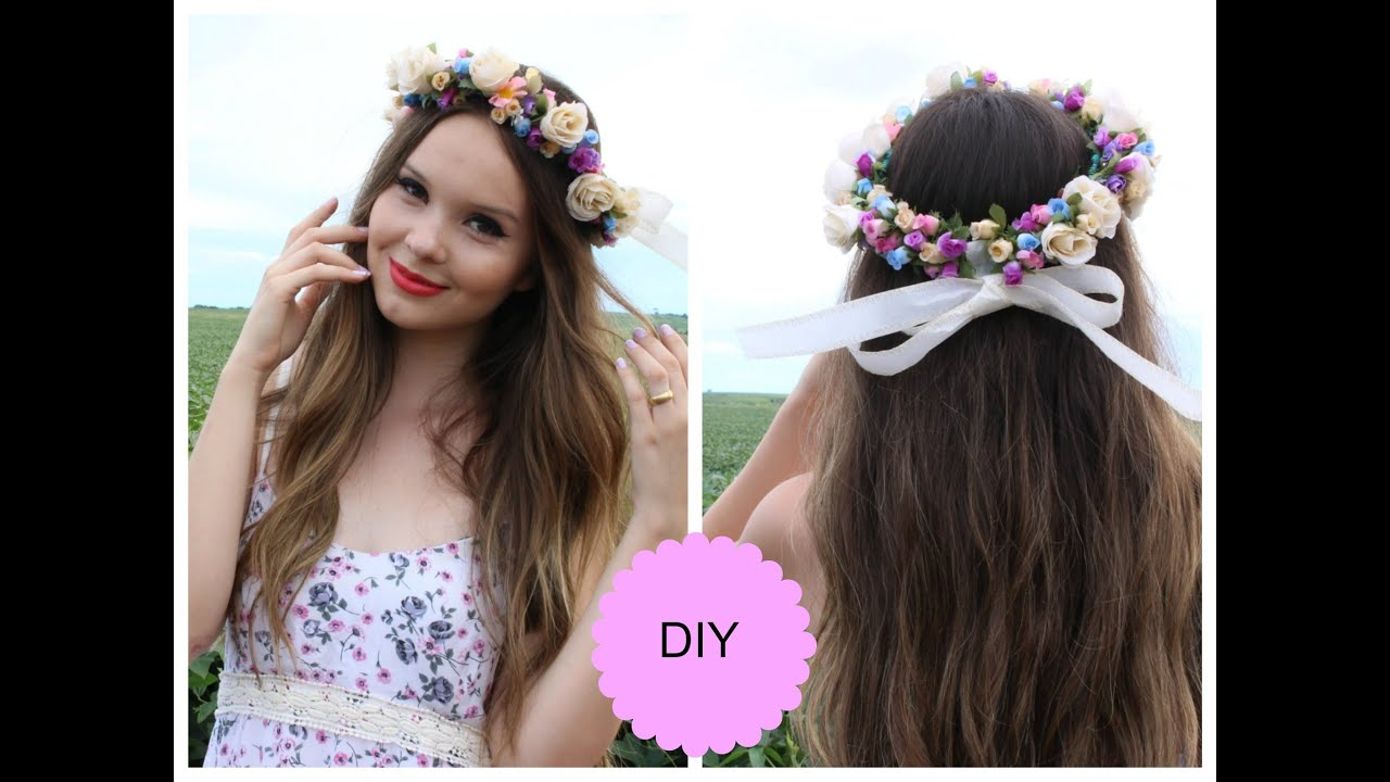 Famosos DIY: Como fazer 4 coroas de flores em casa - Super Fácil - YouTube LS94