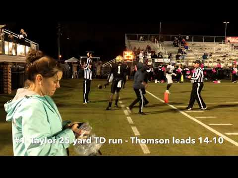 Burke County 30, Thomson 28 - Full Game Highlights