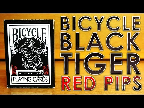 Deck Review - Bicycle Black Tigers Red Pips Ellusionist