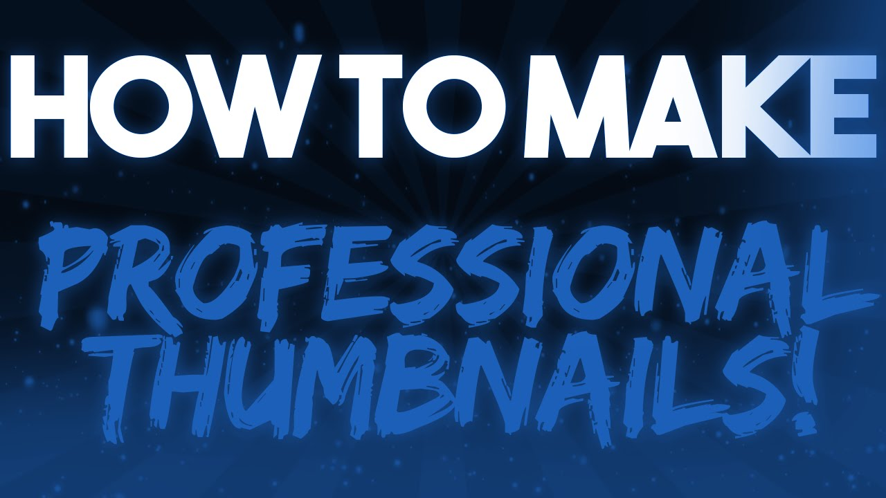 how to make a thumbnail on photoshop