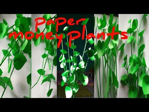 Paper Money plants home decor. Original vul jaoge...