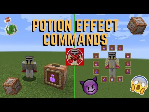 Minecraft command block potion effects | What commands do I