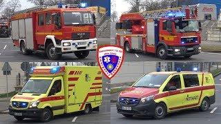 🚒 HLF 20/20 + DLA(K) 23/12 + RTW + NEF (DRK) Berufsfeuerwehr Dresden FuRW 1 Albertstadt