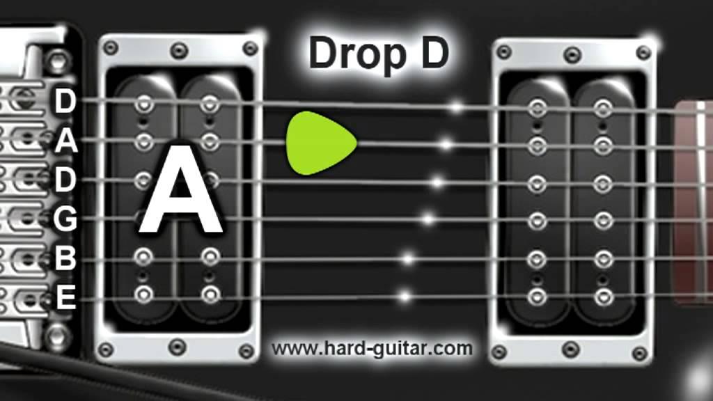 Drop D Guitar Tuner D A D G B E Tuning Youtube