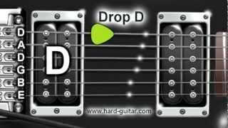 Drop D Guitar Tuner (D A D G B E Tuning)