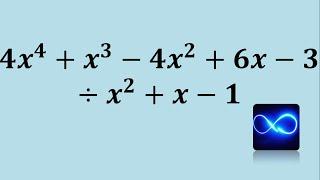División de polinomio entre polinomio paso a paso (cociente)