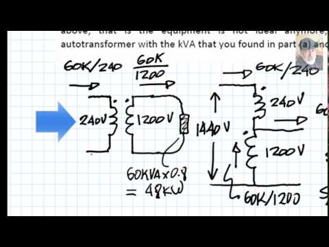 EECE 392 - A single phase autotransformer - YouTube