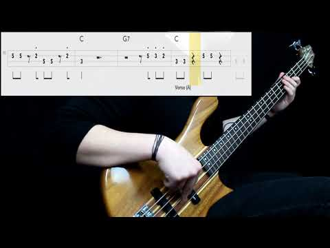 Johnny Rivers - Rockin Pneumonia & The Boogie Woogie Flu (Bass Cover) (Play Along Tabs In Video)