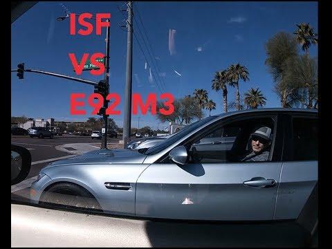 LEXUS ISF V8 VS BMW M3 E90   ROLL RACING