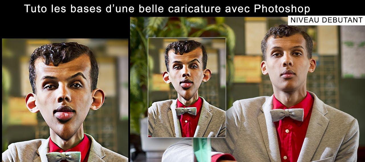 Fabulous Tuto Les bases d' une belle caricature avec photoshop cc (Extrait  JB63