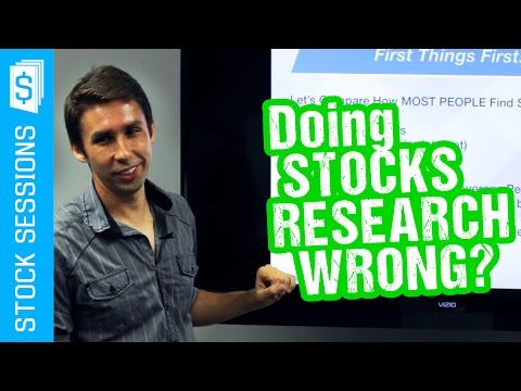 How NOT to Research Stocks [Stock Market 101 Course #03-01]