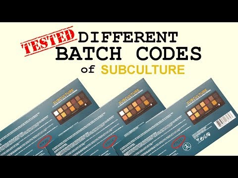 Subculture Palette | Different Batch Codes Tested | PalsLivesLife