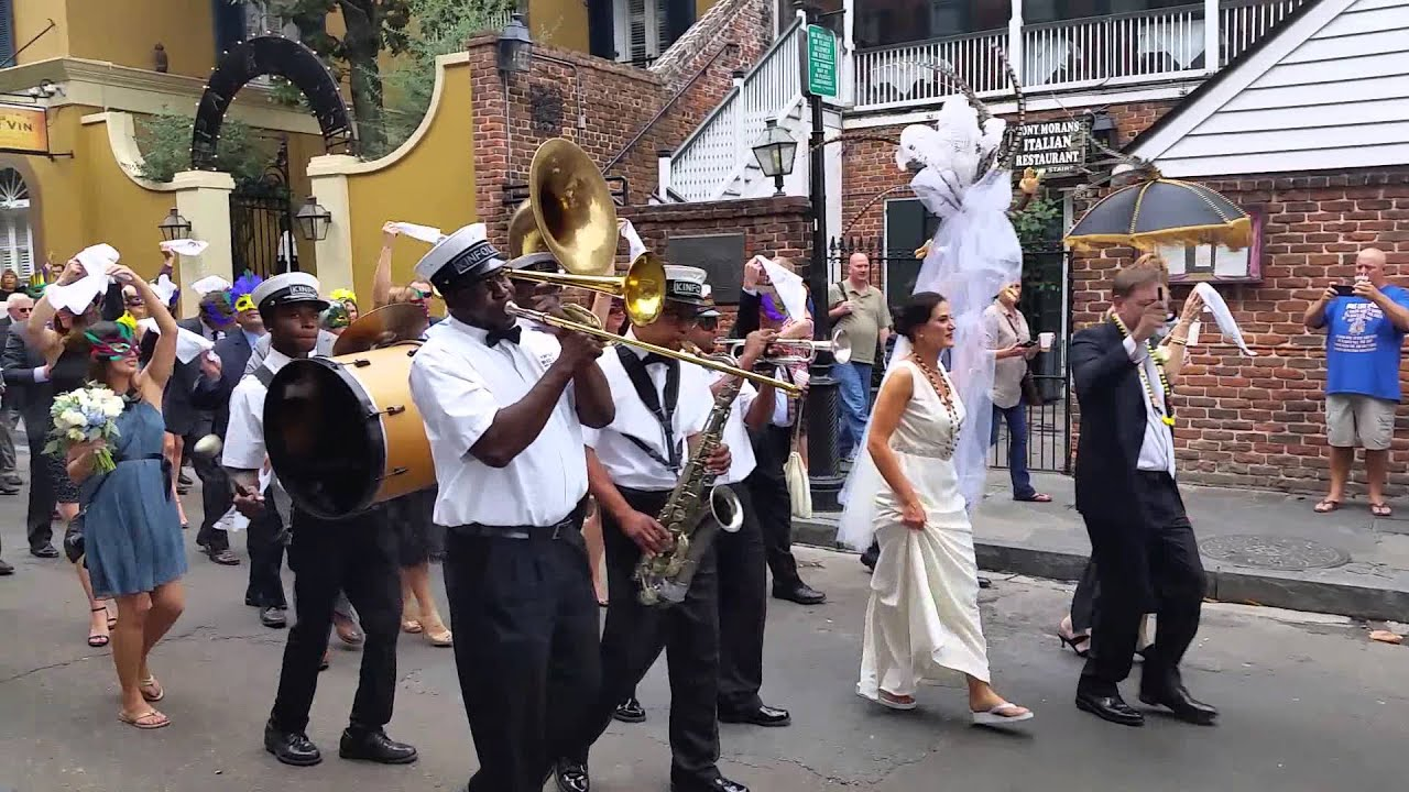 Wedding Parade In New Orleans French Quarter YouTube