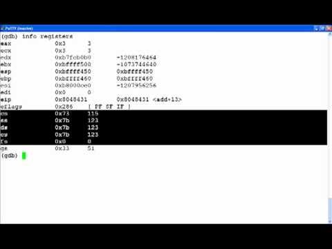 Assembly Primer For Hackers (Part 3) Gdb Usage Primer