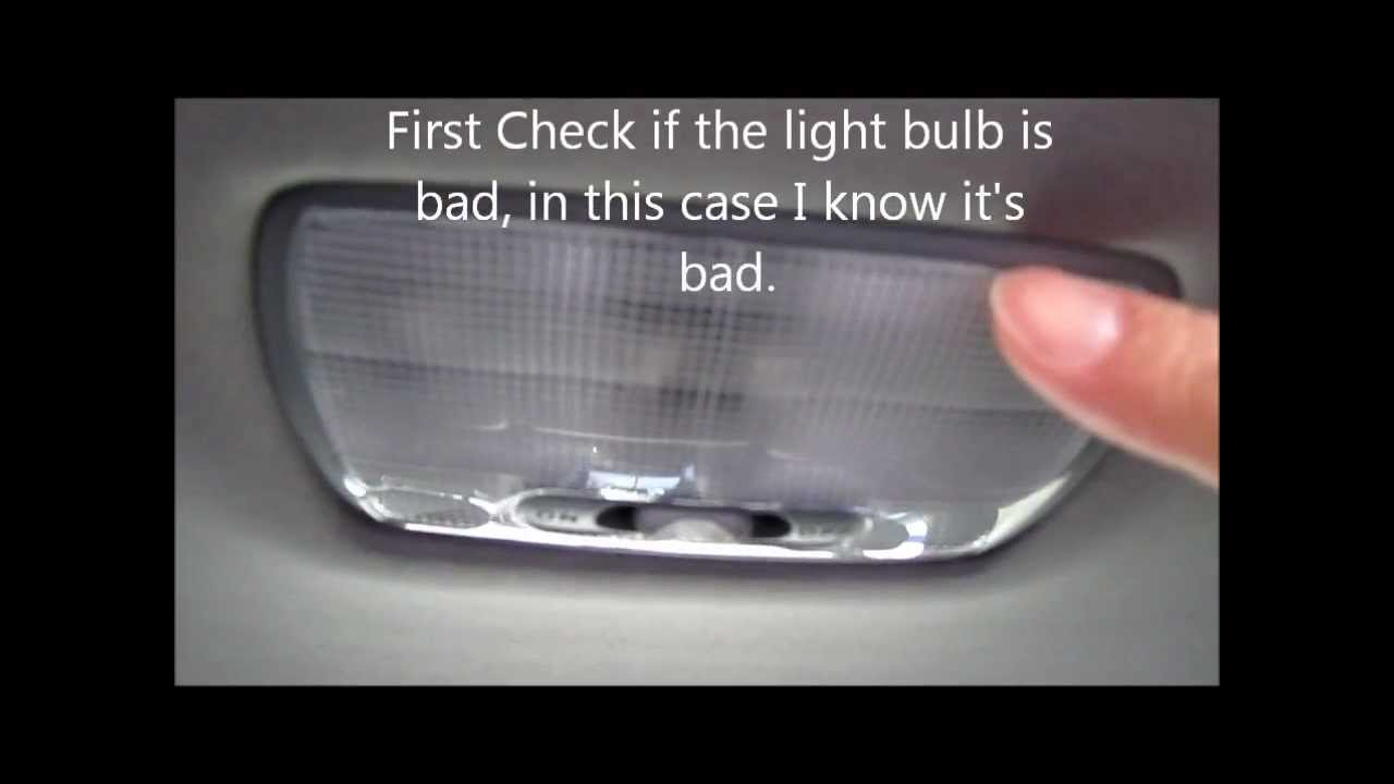 How To Change The Dome Light On Acura Or Honda Youtube