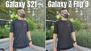 Samsung Galaxy Z Flip 3 vs S21 Real World Camera Comparison
