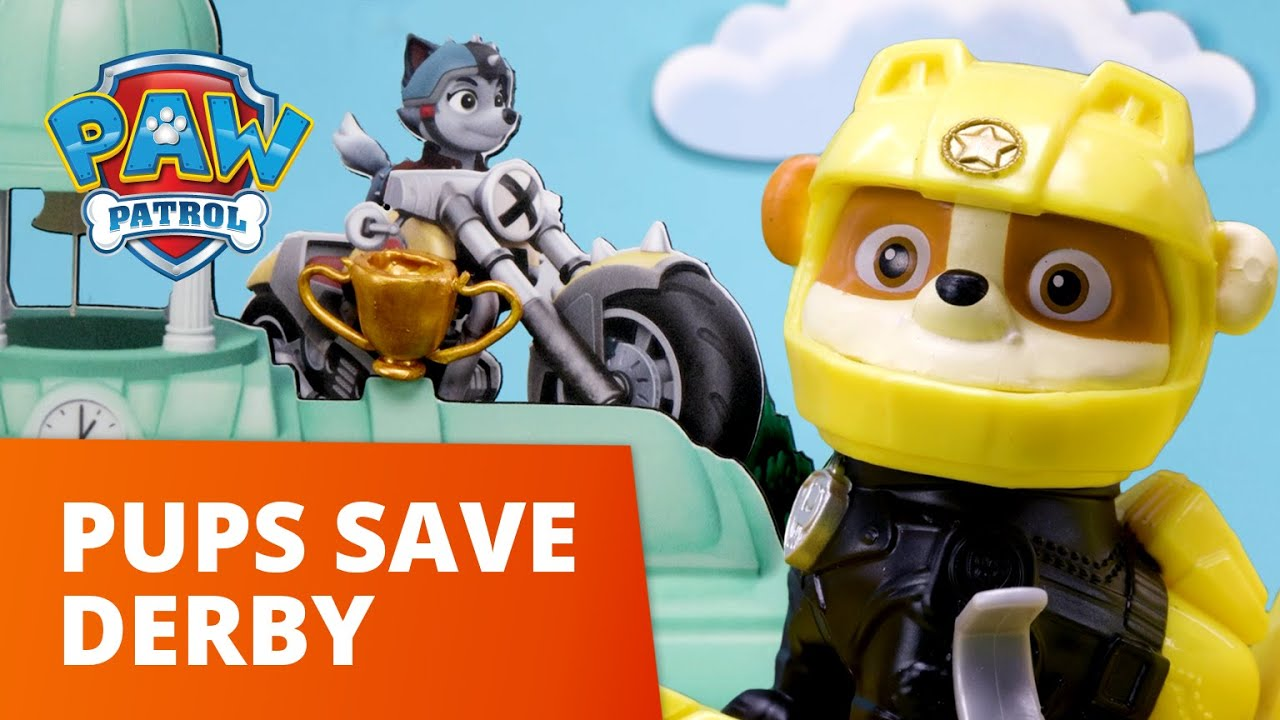 Download PAW Patrol Moto Pups - Pups Save The Derby - Toy Episode - PAW Patrol Official & Friends