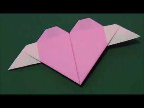 簡単 折り紙 折り紙でハートの作り方 : youtube.com