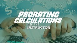Prorating Calculations: Taxes, Rent & Interest - Ask the Instructor