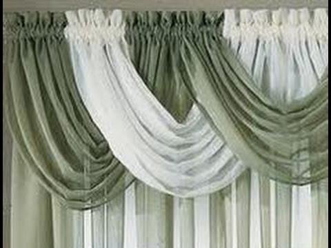Como hacer cortinas con cenefa youtube - Como confeccionar cortinas ...