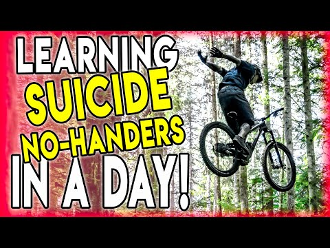 Watch Me Learn A New MTB Trick: The Infamous Suicide No Hander!