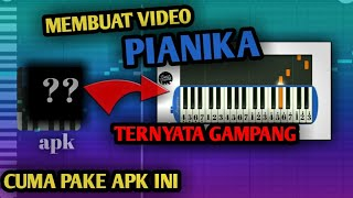 Download lagu Cara membuat video pianika || aplikasi virtual pianika android