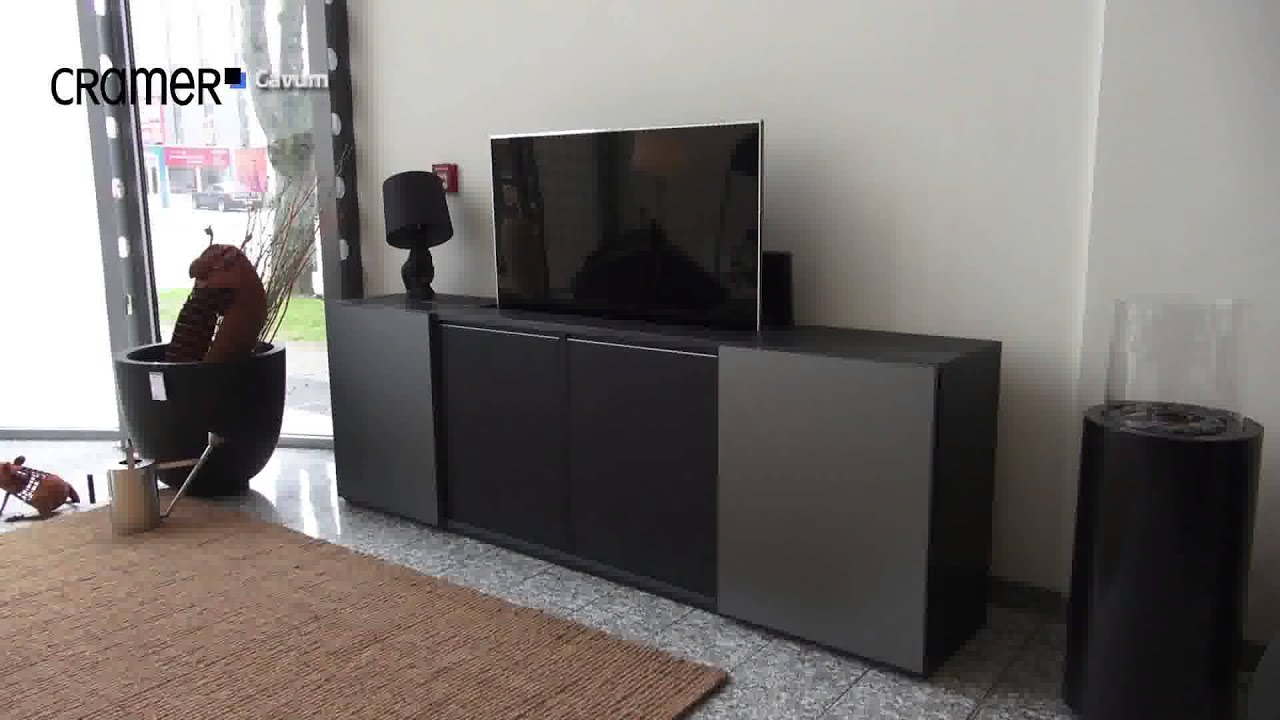 cramerfactory cavum tv sideboard youtube. Black Bedroom Furniture Sets. Home Design Ideas