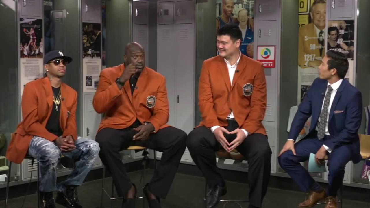 Allen Iverson, Shaq & Yao Ming funny interview (2016 ...