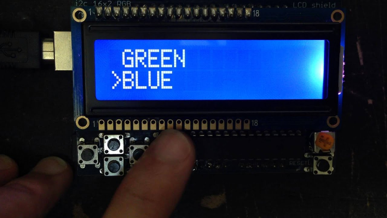Mixing colors arduino library for adafruit s lcd