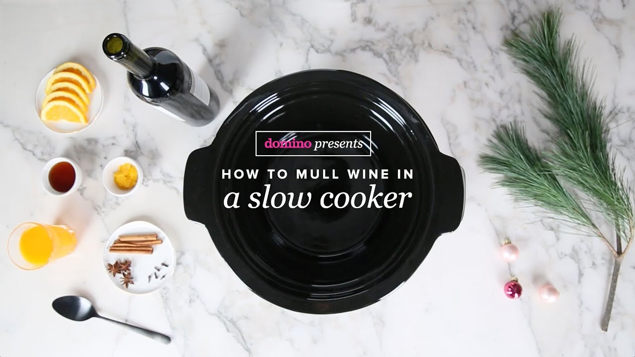 How to mull wine in a slow cooker