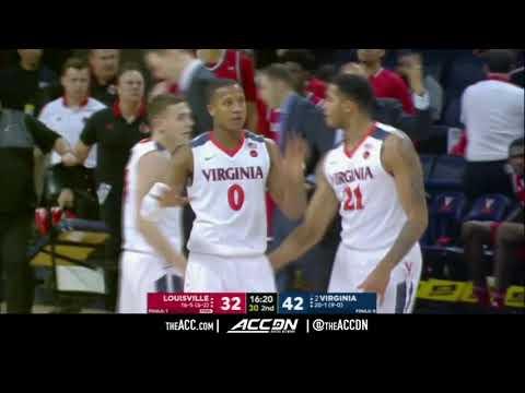 Louisville vs Virginia College Basketball Condensed Game 2018