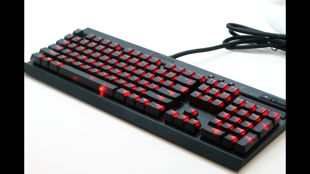Corsair Vengeance K70 Black Translucent Key Cap Modification Replacement  and Installation Guide