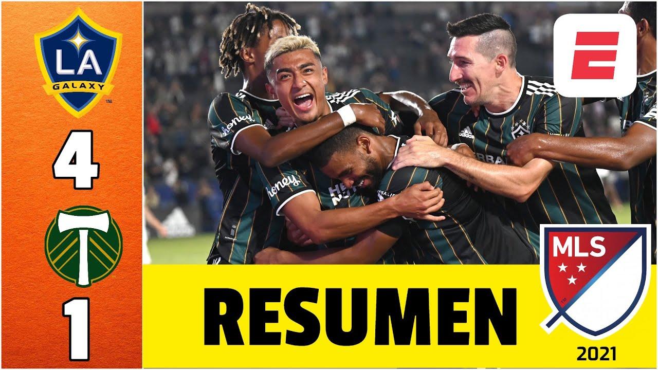 LA Galaxy 4-1 Portland Timbers. Sin CHICHARITO, el Galaxy goleó. Raveloson marca de chilena   MLS
