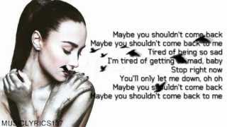 Repeat youtube video Demi Lovato - Shouldn't Come Back [Lyrics On Screen]