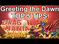 GREETING THE DAWN EVENT - 5 Tips! - Dragon Mania Legends (Solo Event Guide!)