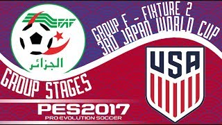 Algeria vs. United States - 3rd Japan World Cup - Fixture 2 - PES2017 - 60fps