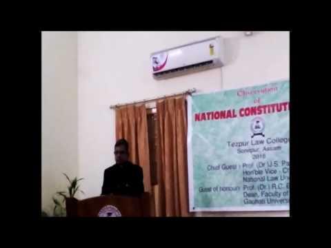 Speech on National Law Day Celebration by Prof. (Dr.) J. S. Patil