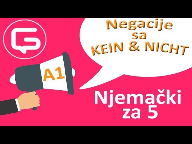 Njemački za 5: Negacije KEIN i NICHT (epizoda 8)