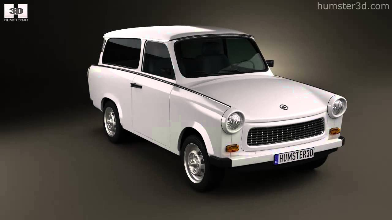trabant 601 kombi 1965 by 3d model store