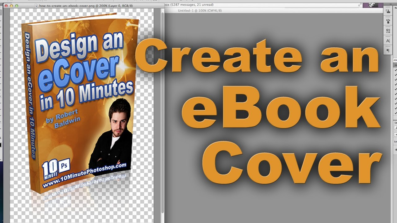 How to Create an eBook Cover - Photoshop tutorial - YouTube