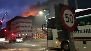 Very smoky fire in Auckland CBD next to the Sky City Casino