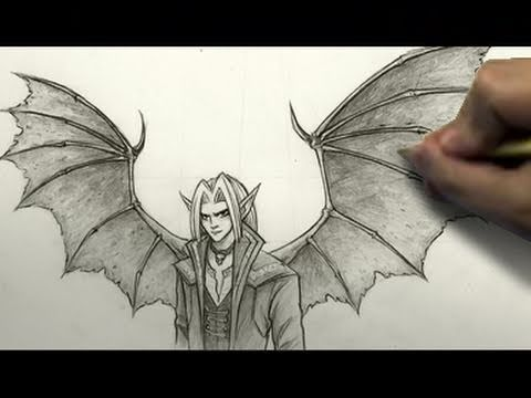 How To Draw Demon Wings Youtube