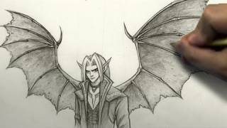 How to Draw Demon Wings