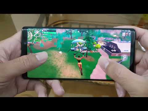 Test Game FORTNITE Mobile On Samsung Galaxy Note 9