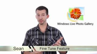 Windows Live Photo Gallery - Fine Tune Panel