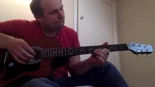 Зелёные рукава на гитаре / greensleeves