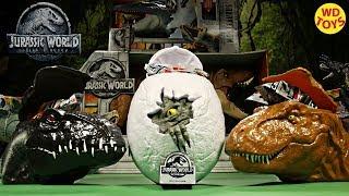 New Jurassic World Surprise Eggs Fallen Kingdom Movie Exclusive Souvenir Unboxing WD Toys Indoraptor