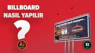 Billboard Tasarımı #1 - Billboard Tasarımı Nasıl Yapılır | #Adobe #Illustrator CC 2018 | Kemik TV