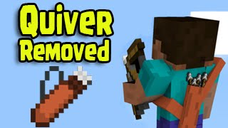 Minecraft 1.9 Update - Quiver REMOVED!